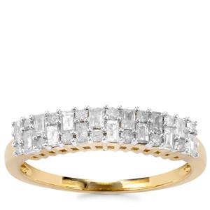 Diamond Ring in 9K Gold 0.51ct