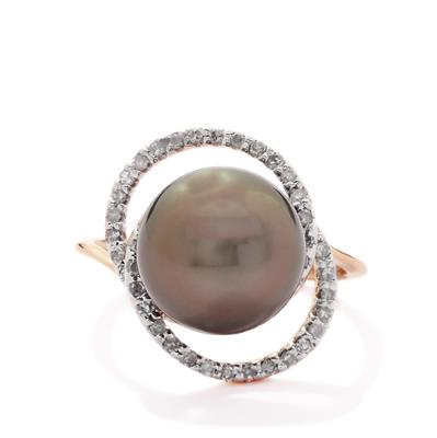 RATANAKIRI ZIRCON RING WITH RAJASTHAN GARNET IN 9K GOLD 2.99CTS