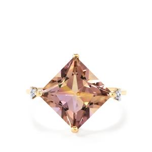 Anahi Ametrine Ring with White Zircon in 9K Gold 4.60cts