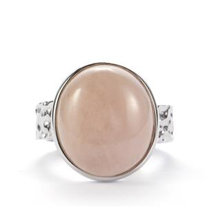 Morganite Sarah Bennett Ring in Sterling Silver 11.52cts