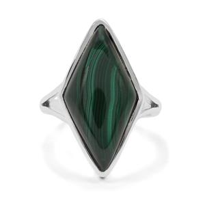 Malachite Ring in Sterling Silver 13.15cts