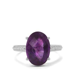5ct Zambian Amethyst Sterling Silver Ring