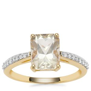 Serenite Ring with White Zircon in 9K Gold 2.21cts