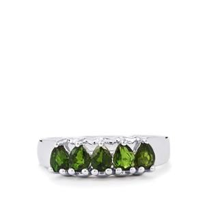 1.03ct Chrome Diopside Sterling Silver Ring