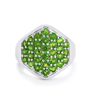 2.18ct Chrome Diopside Sterling Silver Ring
