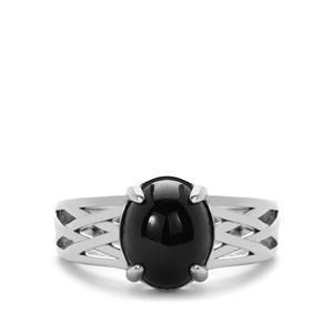 5.58ct 6 Ray Star Garnet Sterling Silver Ring