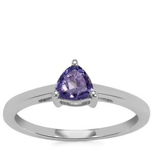 Tanzanite Ring in Sterling Silver 0.52ct