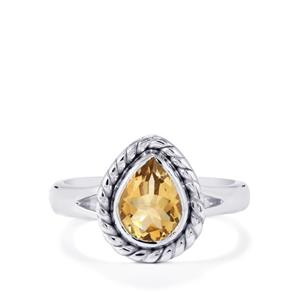 Diamantina Citrine Ring  in Sterling Silver 1.46cts