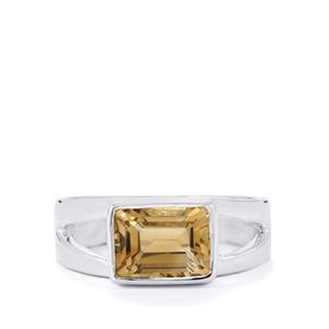 Diamantina Citrine Ring in Sterling Silver 2.11cts