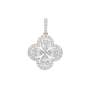 Diamond Pendant in 18K Gold 1cts