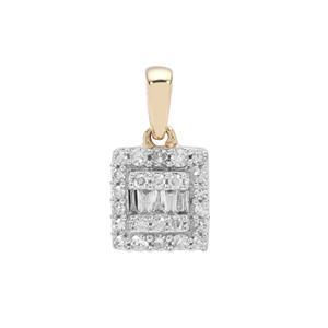 1/4ct Diamond 9K Gold Pendant