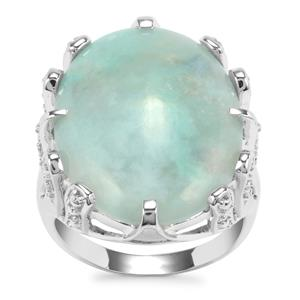 Aquaprase™ Ring with White Topaz in Sterling Silver 12.90cts