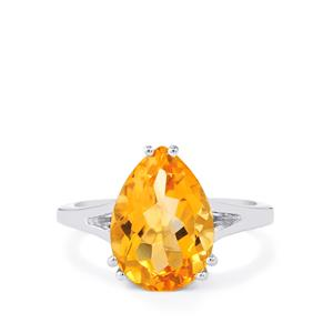 Diamantina Citrine Ring in Sterling Silver 5.40cts