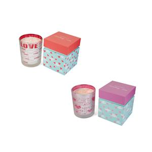 Sending Love Valentines Candle, Strawberry Fragrance with Rose Quartz ATGW 10cts