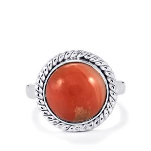 Pink Lady Opal Ring in Sterling Silver 3.96cts