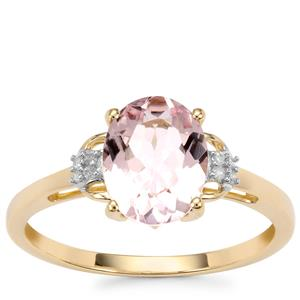 Alto Ligonha Morganite Ring with Diamond in 10k Gold 1.62cts