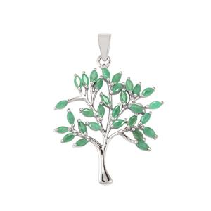 Minas Gerais Emerald Pendant in Sterling Silver 2.40cts