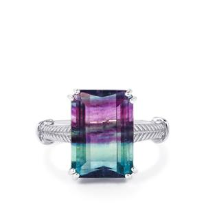 9.21ct Zebra Fluorite Sterling Silver Ring