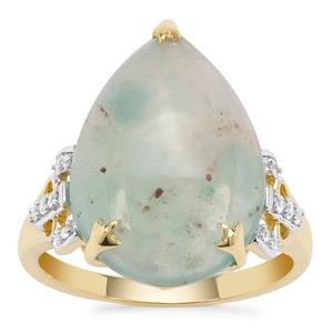 Aquaprase™ Ring with White Zircon in 9K Gold 7.58cts