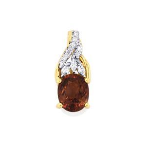 Bekily Colour Change Garnet & Diamond 18K Gold Tomas Rae Pendant MTGW 2.16cts