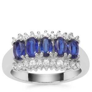 Daha Kyanite Ring with White Zircon in Sterling Silver 2.10cts