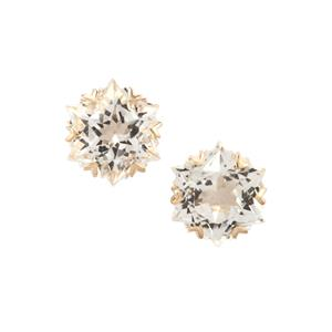 Wobito Snowflake Cut Cullinan Topaz Earrings in 10K Gold 5.59cts