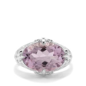 6ct Rose De France Amethyst Sterling Silver Ring