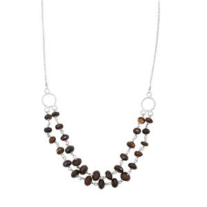 Boulder Opal Bead Necklace in Sterling Silver 25cts