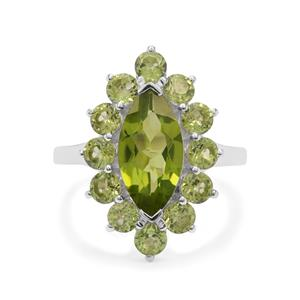 5.05ct Red Dragon Peridot Sterling Silver Ring