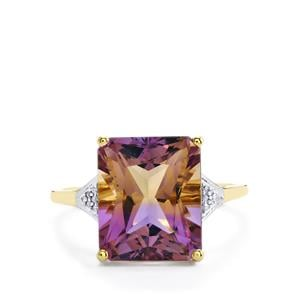 Anahi Ametrine Ring with Diamond in 10k Gold 5.73cts