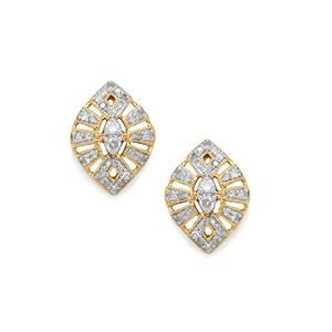 Diamond Earrings in 10k Gold 0.50ct