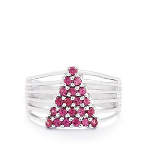 0.72ct Rhodolite Garnet Sterling Silver Ring
