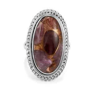 13ct Copper Mojave Amethyst Sterling Silver Aryonna Ring