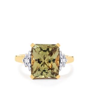 Csarite® Ring with Diamond in 18k Gold 5.20cts