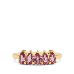 1.30ct Malaya Garnet 9K Gold Ring