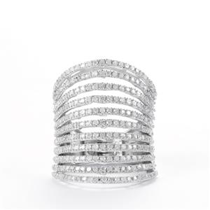 1.24ct Diamond Sterling Silver Ring