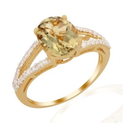 CSARITE® RING WITH DIAMOND IN 18K GOLD 3.22CTS