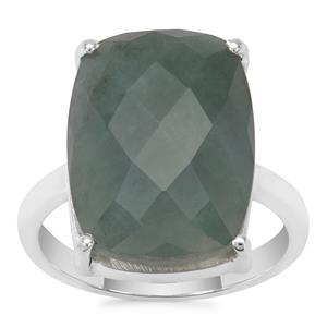Burmese Jade Ring in Sterling Silver 12.61cts