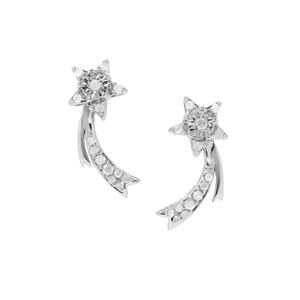 Diamond Earrings in Sterling Silver 0.25ct