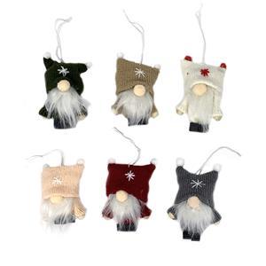 Nordic Gonk Christmas Tree Decorations - Set of Six