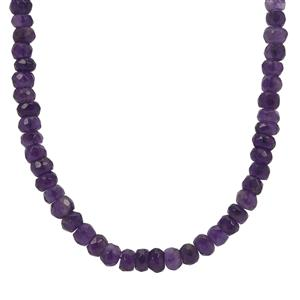 Zambian Amethyst Necklace in Sterling Silver 68cts