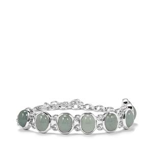 Aquamarine Bracelet in Sterling Silver 16.21cts