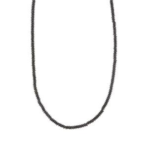Black Spinel Necklace in Sterling Silver 32.12cts
