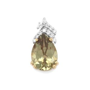 Csarite® Pendant with Diamond in 18K Gold 2.28cts