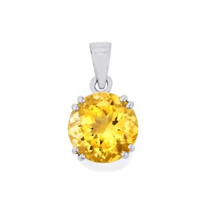 Diamantina Citrine Pendant in Sterling Silver 5.52cts