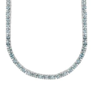 Ratanakiri Blue Zircon Necklace in Sterling Silver 42.61cts