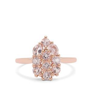 1.11ct Cherry Blossom™ Morganite 9K Rose Gold Ring