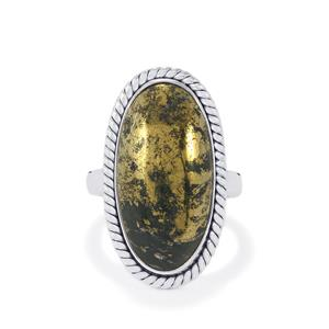 16ct Apache Gold Pyrite Sterling Silver AryonnaRing