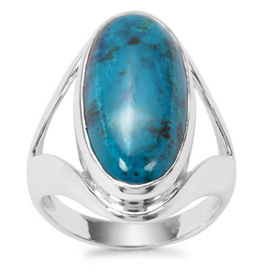 Chrysocolla Ring in Sterling Silver 11.48cts