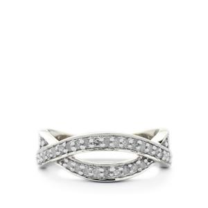 1/3ct Certified Diamond Sterling Silver Ring